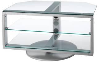 Модели стеклянных тумб для телевизора, важные нюансы