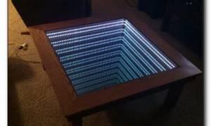 Пошаговое создание оригинального стола из двигателя, монтаж подсветки