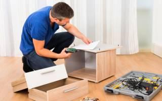 Как ремонтировать корпусную мебель в домашних условиях