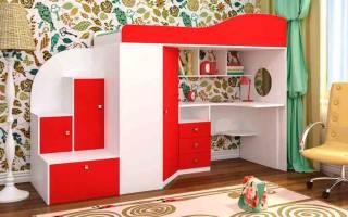 Особенности детской корпусной мебели, советы по выбору