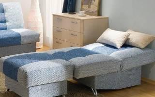 Разнообразие вариантов кресел-кроватей без подлокотников в интерьере