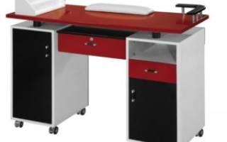 Разновидности маникюрных столов, изготовление своими руками