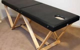 Изготовление массажного стола своими руками, инструкции и схемы