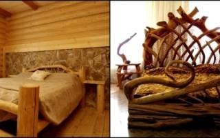 Особенности мебели из бревен, обзор моделей