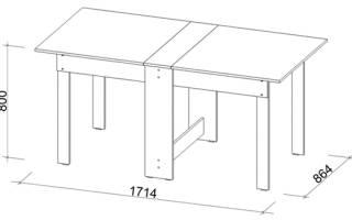 Особенности изготовления стола-книжки из ДСП своими руками