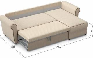 Какие бывают размеры у углового дивана, механизмы трансформации