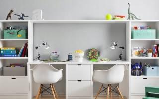 Конфигурации письменного стола для двоих детей, критерии выбора