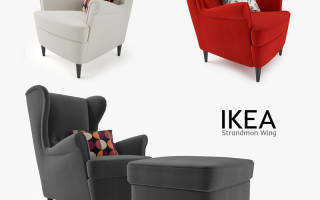 Конструкция и дизайн кресла Икеа Страндмон, сочетание с интерьером