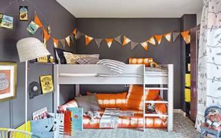Самые популярные детские красные кровати, и как сочетать в интерьере