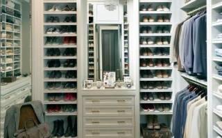 Виды полок в гардеробную, советы по выбору