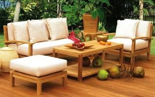 Варианты мебели в веранду и террасу, особенности эксплуатации
