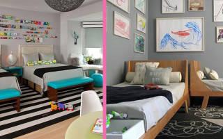 Виды детской мебели, модели для двоих мальчиков