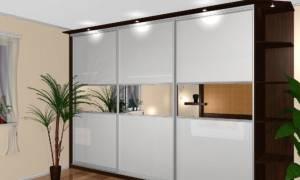 Варианты шкафов купе с стеклом матового типа, обзор моделей