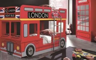 Преимущества кроватей автобусов в оформлении детской комнаты