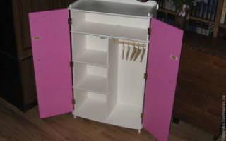 Изготовление шкафа для Барби, как сделать самому