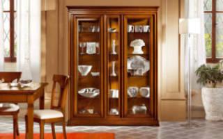 Возможные варианты шкафов под посуду для гостиной, плюсы и минусы