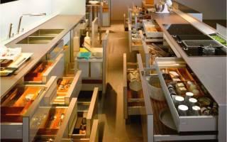 Какие существуют кухонные тумбы, модели с ящиками