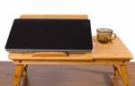 Модели столиков для ноутбука в кровать, их преимущества и недостатки