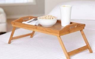 Функциональные столики в кровать, преимущества и недостатки
