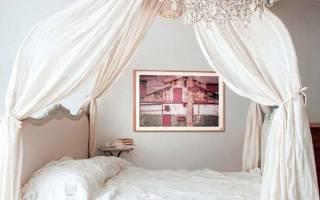 Инструкция по изготовлению балдахина над кроватью, как сделать своими руками