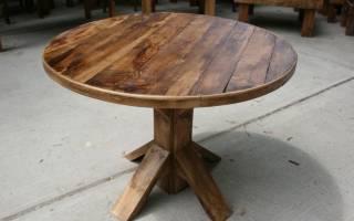 Этапы изготовления круглого стола своими руками, полезные лайфхаки