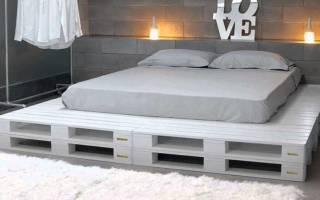 Изготовление кровати из поддонов, важные нюансы работы